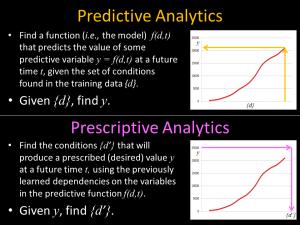Predictive versus Prescriptive Analytics